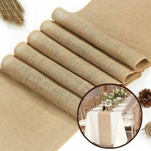 Roll Burlap Table Runner Home Decoration Wedding Party Chair Bands Gift Wrapping