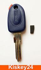 Schlüssel Rohling mit Transponder für Fiat Punto Bravo Brava Coupe Marea