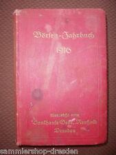 Arnhold Bankhaus Gebrüder : Börsen-Jahrbuch 1916  Dresden RAR