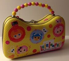 Lalaloopsy Tin Carry-All Tinbox - Yellow Purse Style Crumbs, Bea, Mittens, Jewel
