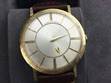 LONGINES - WITTNAUER 14CT. GOLD WRIST WATCH Case with Rare 17 Jewels