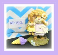 ❤️Wee Forest Folk Miss Daisy M-182 1992 Lavender Dress Mouse Bunny Rabbit❤️