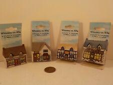 "Four original 1980's-vintage (Wade Porcelain Uk) ""Whimsey ~ Houses""! ~4-pc. Lot!"