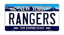 "Metal Vanity License Plate Tag Cover - New York Rangers - Hockey Team - 12"" x 6"""