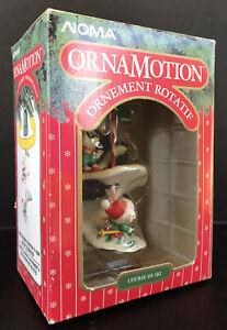 Vintage Noma Ornamotion Christmas Ornament Ski Race