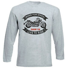 HONDA SHADOW VTT 1100 - GREY LONG SLEEVED TSHIRT- ALL SIZES IN STOCK