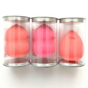 3 PCs of She Makeup Blending Sponges - Pink and Orange NEW/NIB