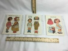 Set of 4 Dolly Dingle Paper Doll Post Cards, 1985