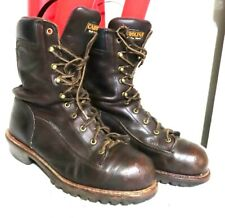 Men's Carolina Steel toe WP laceup tall work boots brown leather sz 11.5 D