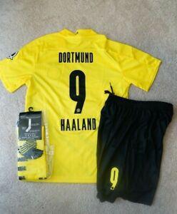 Dortmund #9 Haaland Kids Jersey Kit Age 6-13 Yrs Shirt, short, socks 2020 / 21