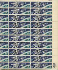 1967 5 cent Space Twins full Sheet of 50 Scott #1331-1332, Mint NH