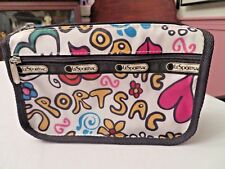 LE SPORTSAC LESPORTSAC COSMETIC SIZE BAG WITH ZIP TOP - COLORFUL GRAFFITI PRINT