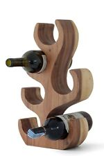 Wine rack 6 bottle holder stand 43cm abstract tree hand carved solid Acacia wood