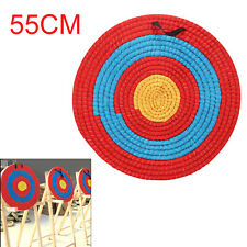 55CM Outdoor Sports Archery Shooting Bow Straw Arrow Target Single Layer UK