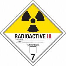 Back to the Future Plutonium Case Radioactive Labels Movie Prop Replicas