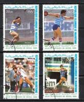 JO été Mauritanie (17) série complète de 4 timbres oblitérés