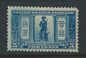 Bigjake: #619, 3 cent Lexington - Concord   MNH
