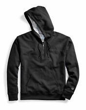 Hoodie Sweatshirt Champion Men's Powerblend Fleece Quarter Zip Embroidered Logo