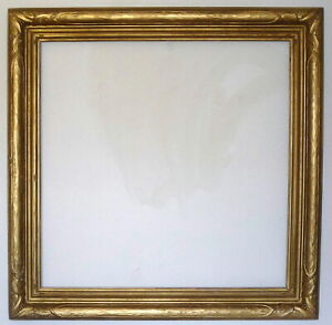 """Antique 1920's Gold 36"""" x 36"""" Gesso Closed End Frame Newcomb & Macklin Style"""
