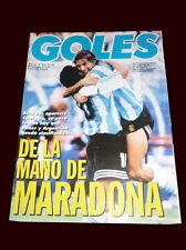 FIFA WORLD CUP 1994 GOLES Magazine ARGENTINA vs NIGERIA - RARE DIEGO MARADONA