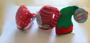 Little Helpers Holiday Hair Clips- Set of 3 red green white- mini hats Christmas
