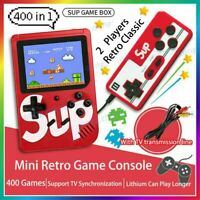 NEW Handheld Retro Video Game Console Gameboy Built-in 400 Classic Games Gift UK
