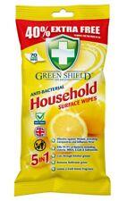 3 x Green Shield Anti Bac Household 70 per pack wipes,5 in1 ,UK made
