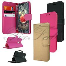 For LG K9 X210 New Leather Flip Stand Wallet Phone Case Cover + Tempered Glass