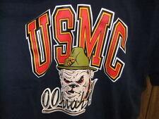 vintage 90s USMC Marines shirt jersey bulldog Oohah! blue large Soffe