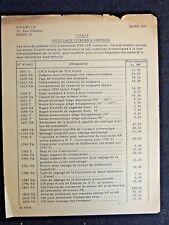 Document publicitaire FENWICK tarif outillage citroen 2Cv voiture 1960