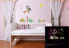 Glow Night Moon Girl Home Room Decor Removable Wall Sticker Decal Decorations