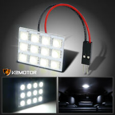 12-SMD 1210 White Led Dome Light Panel Car Interior T10 BA9S Adapter