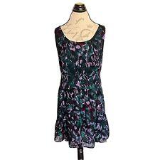 I Heart Ronson Size Large Dress Ruffle Sleeveless Line Women Green Purple Casual