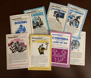 Bilingual Canadian Intellivision Manuals for Sport Games From Mattel Electronics