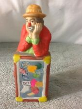 Cool Vintage The Emmitt Kelly Jr Collection Ceramic Clown Leaning On Suitcase
