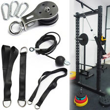 LAT and Lift Pulldown Cable Pulley System Home Fitness Workouts Gym Equipment