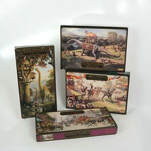 1993 Vintage Dinotopia Puzzle Bundle of 4 Lots (x2 750pc x2 1000pc)