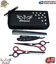Professional Hairdressing Hair Cutting Scissors Barber Shears BLACK and RED