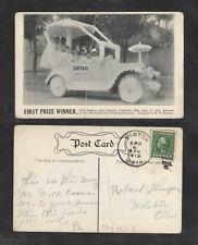 1916 1st PRIZE WINNER FALL FESTIVAL AUTO PARADE COLUMBUS OHIO POSTCARD GR8 CARD!