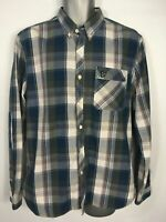 MENS LYLE & SCOTT HERITAGE BLUE CHECK LONG SLEEVE SMART CASUAL SHIRT SIZE LARGE