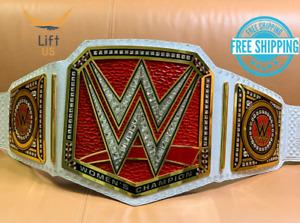 RAW Women's Universal Championship REPLICA Title Belt RED BRASS 2MM ADULT Size