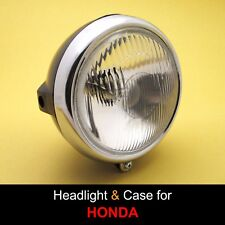 Honda SL100 SL125 XL100 XL125 XL175 CT125 Headlight + Rim + Black Case Bucket