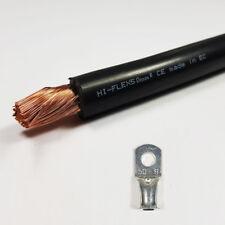 Cable de soldadura de Batería 50 mm² Negro 345 A Amperios Pvc Flexible libre del estirón Por Metro
