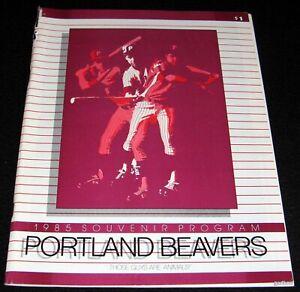 PORTLAND BEAVERS 1985 PROGRAM PCL DARREN DAULTON & MIKE MADDUX ETC  PHILLIES