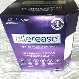 Allerease Mattress Protector Sz Full Ultimate Cotton Zippered  Allergy Bed Bug