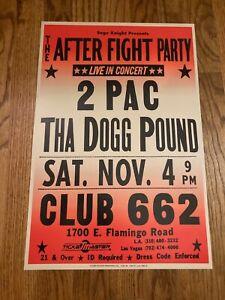 Tupac 2Pac Shakur Tha Dogg Pound 1995 Las Vegas Club 662 Concert Poster 12x18
