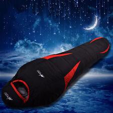 Hot Mummy Duck Down Sleeping Bag Ultra Light Camping Portable Waterproof Fleabag