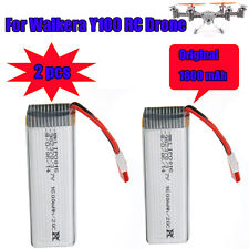 2x Spare Parts Battery Li-po 3.7V 1600mAh for Walkera QR Y100 FPV RC Original