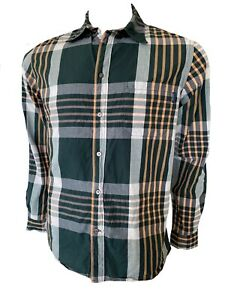 Paul Smith Jeans Mens Classic Fit  Check Cotton Long Sleeve Shirt Size M