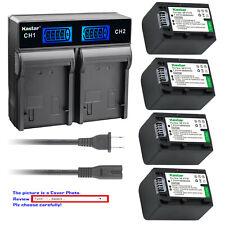 Kastar Battery LCD Rapid Charger for Sony NP-FV70 & DCR-SX73 DCR-SX83 DCR-SX85